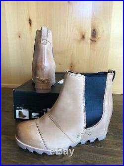 NIB Sorel LEA wedge women 8 Waterproof CAMEL Original Style RARE IN BOX NEW