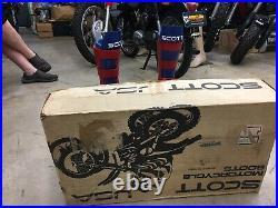 NOS Vintage SCOTT MX Motocross Boots Original UNUSED AHRMA With Box RARE Collect