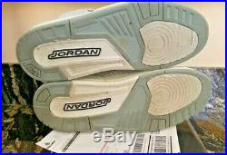 Nike Air Jordan 3 White Flip with Original Box & Receipt! RARE. All LEATHER Inside