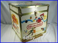 Nintendo Video Game Storage Box Legend Of Zelda 1987 Rare Vintage Original