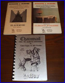 ORIGINAL D&D WOODGRAIN BOX 1975 3rd PRINT + extras RARE Gygax / Arneson