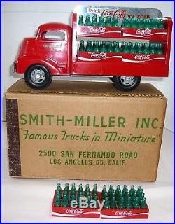 ORIGINAL, RARE VTG. 1970'S COCA-COLA SMITH MILLER DELIVERY TRUCK With6 CASES & BOX
