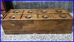 Original Antique 8 Drawer Horizontal Spice Apothecary Cabinet. Rare Piece. Aafa