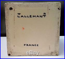 Original French Cubist Robert LALLEMANT Pottery Box RARE Museum Quality, ca 1920