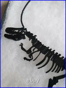 Original TATTY DEVINE dinosaur Necklace Jewellery Perspex Dino Black rare in box