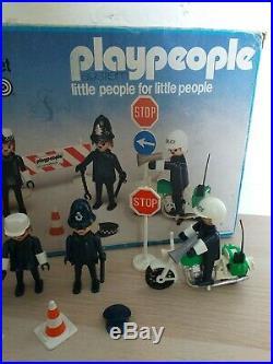 Playpeople marx Geobra 1970s rare 1720/1 police Bobby super set original box