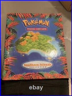 Pokemon Southern Islands English Set 18/18 Cards & Original Binder Box Mint/NM