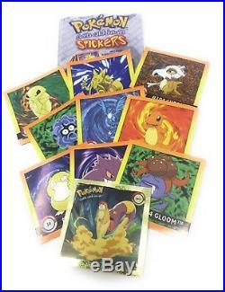 Pokemon Stickers Series 1 Original 1999 Full Retail Display Box Artbox NEW RARE