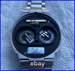 Pulsar P2 LED Watch Original Box and Papers RARE 3050 MODULE James Bond