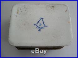 RARE 18th C. FRENCH SEVRES PORCELAIN GILT BRONZE, ENAMELED DRESSER / TRINKET BOX