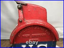 RARE 1907 or Older Antique Vintage U S Mail Street Letter Box With Lock & Key