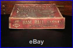 RARE 1910s-20s Vintage DRAPER & MAYNARD BASEBALL GLOVE BOX not bat