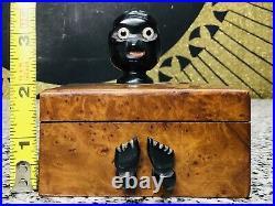 RARE 1920s Dunhill YZ Wood & Bakelite Nut Bird Pipe Smoking Tobacco Trinket Box