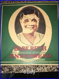 RARE 1920s ORIGINAL BABE RUTH UNDERWEAR BOX WORLD SERIES VINTAGE OLD GLOVE