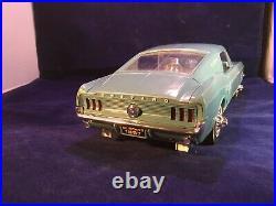 RARE 1967 Wen-Mar Mustang Fastback Model light blue 1/12th Scale Original Box
