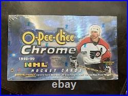 RARE 1998 OPC Hockey Chrome Hobby Box LAST ONE Gretzky Rookie Refractor