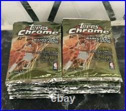 RARE 2001-2002 Topps Chrome NBA Basketball Box 24 Packs Jordan Kobe Refractor
