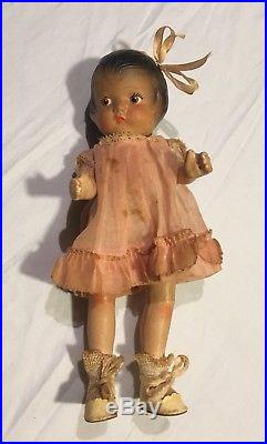 RARE ANTIQUE Pre 1920 EFFANBEE PATSY COMPOSITION DOLL With ORIGINAL BOX