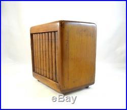 RARE ANTIQUE SECRET STORAGE CABINET TURNABLE BOOKS ART DECO 30s 1930 BOX