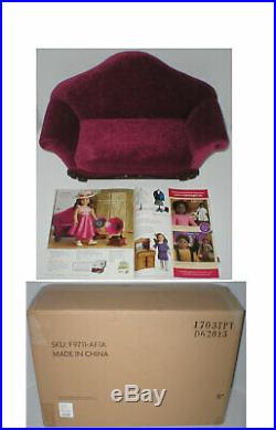 RARE American Girl REBECCA'S SETTEE Sofa Couch Loveseat in Original Shipper Box