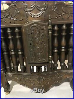 RARE Antique LARGE Original Vintage Walnut French BREAD BOX Cabinet Dinning Room