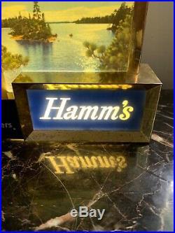 RARE BREWERIANA Lighted Vintage Hamms Beer Sign All Original W- Box! Work