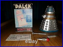 RARE Doctor Dr Who 1960s CODEG Dalek Money Box- All Original and Boxed
