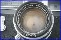 RARE! EXC Canon Model 7 & 50mm f1.8 Lens with Original BOX From JAPAN