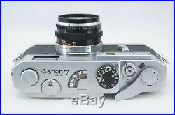 RARE! EXC++ Canon Model 7 & 50mm f2.2 Lens with Original BOX From JAPAN