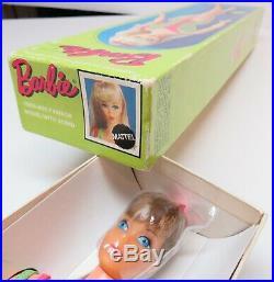 RARE EXC Center Eye Light Brunette Standard Barbie Doll in BOX Vintage