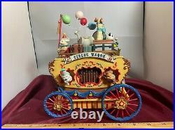 RARE Enesco Workin For Peanuts Circus Cart Multi-Action Music Box