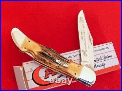 RARE & IMPORTANT Case XX USA 5165L STAG LOCKBACK mint/box folding hunter knife