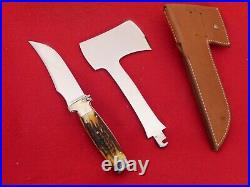 RARE & IMPORTANT STAG Case 561 Knife Axe set MINT in BOX