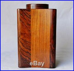 RARE Jens Quistgaard JHQ Dansk Rosewood Teak Tea Caddy Canister Box Denmark