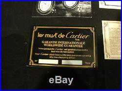 RARE Must de Cartier CARTIER TRAVEL / DESK ALARM CLOCK, ORIGINAL BOX, PAPERS