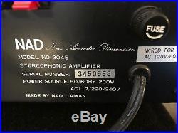RARE NAD 3045 Stereo Tube Like Amplifier 1978-1981 Original box & Manual
