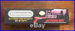 RARE NEW IN BOX Original Nintendo Entertainment System Action Set Gray Console