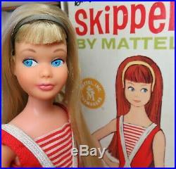 RARE Near Mint PINK SKIN Blonde Skipper with BOX, headband, accessories 1967