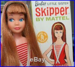 RARE Near Mint PINK SKIN Redhead Skipper with BOX, headband, accessories 1967