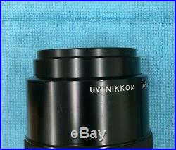RARE Nikon UV NIKKOR 105mm f/4.5 Multispectral Lens with Filters ORIGINAL BOX