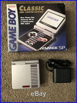 RARE Nintendo Game Boy Advance SP Classic NES Limited Edition In Original Box