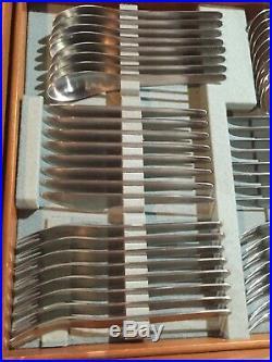 RARE ORIGINAL FLATWARE SET in BOX MICHELSEN JACOBSEN DENMARK STAINLESS STEEL AJ