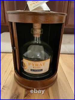 RARE Pyrat Rum XO Reserve Empty Bottle, Tags & Wooden Box Display Case 750ml NEW