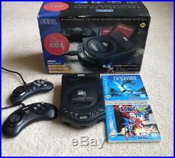 RARE Sega Genesis CDX CD System/Console Original Box, Inserts And Games
