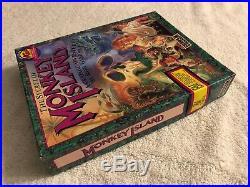 RARE! The Secret of Monkey Island for PC Lucas Arts Original Complete BIG BOX