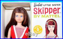 RARE Two Tone Brunette Skipper Doll #950 WithBox & Accessories Vintage 1960's