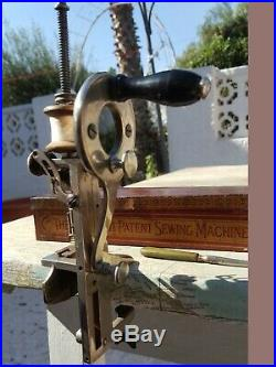 RARE VICTORIAN MOLDACOT MINIATURE SEWING MACHINE 1880s WITH ORIGINAL BOX LONDON