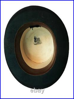 RARE Victorian Double Top Hat Box Case With 2 Hats Folding Opera & Plush Silk
