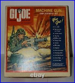 RARE Vintage 1965 GI JOE Original Action Figure MACHINE GUN EMPLACEMENT SET BOX