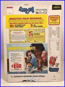 RARE Vintage 1975 General Mills Boo Berry Monster Cereal Box Kids Food Halloween